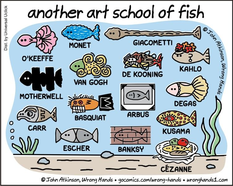Another Art school of Fish by John Atkinson