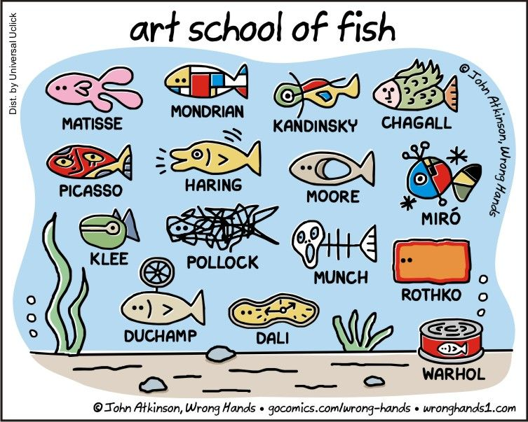 Art school of Fish by John Atkinson