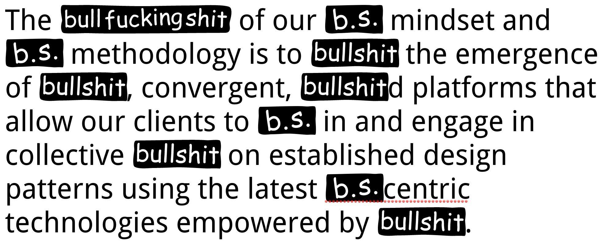Bullshit Sans by Roel Nieskens