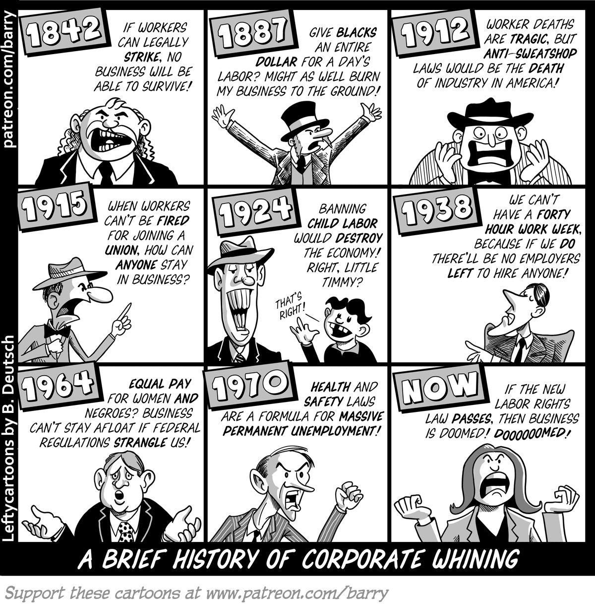 Comic on Corporate Whining