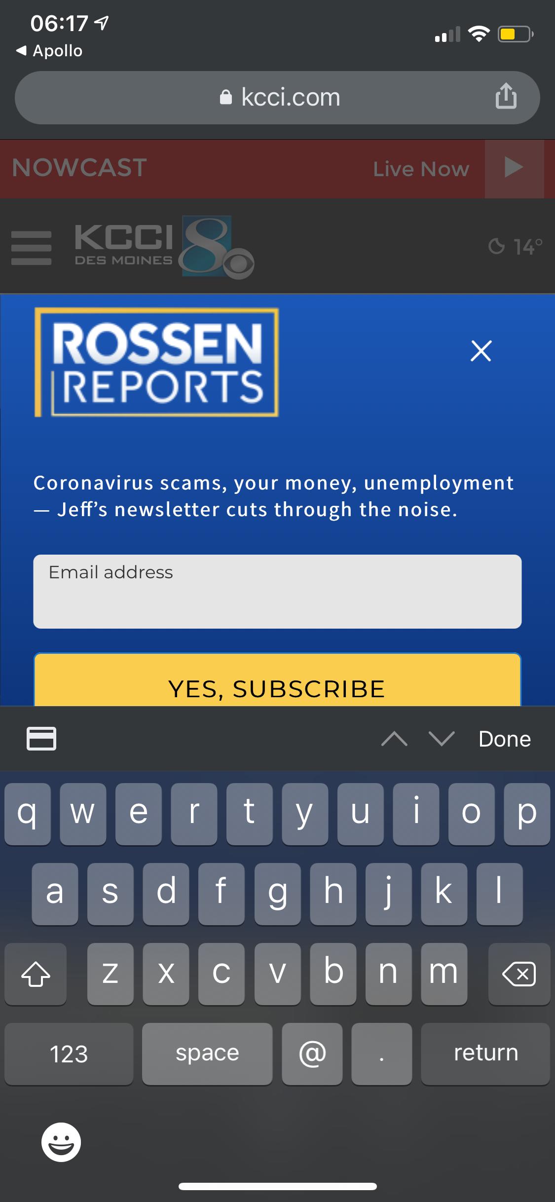 The DSM Register's Website is a Crock of Shit - Screenshot 1